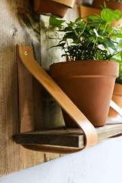 Fascinating Diy Wood And Leather Trellis Plant Ideas For Wall To Try 06