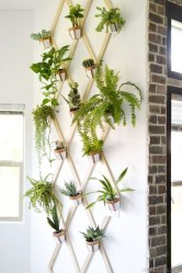 Fascinating Diy Wood And Leather Trellis Plant Ideas For Wall To Try 33