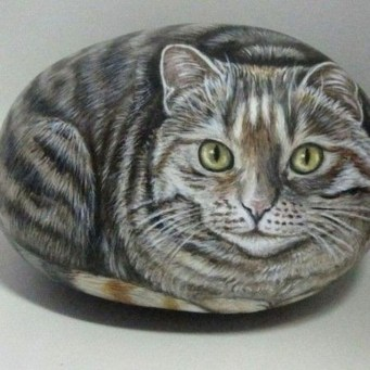 Glamour Diy Painted Rocks Animals Cats Ideas For Summer 19