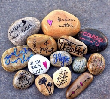 Glamour Diy Painted Rocks Animals Cats Ideas For Summer 27