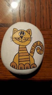 Glamour Diy Painted Rocks Animals Cats Ideas For Summer 28