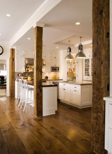Rustic Wood Floor Ideas For Amazing Kitchen 36