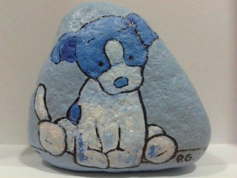 Splendid Diy Projects Painted Rocks Animals Dogs Ideas For Summer 14
