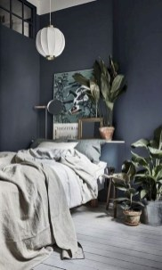 Delightful Bedroom Designs Ideas With Dark Wall That Breaks The Monotony 14