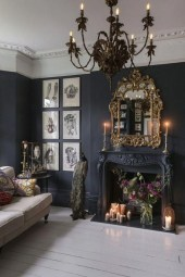 Delightful Bedroom Designs Ideas With Dark Wall That Breaks The Monotony 19