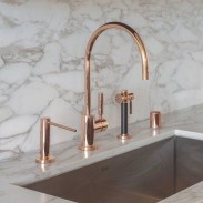 Hottest Copper Rose Gold Kitchen Themes Decorations Ideas 08
