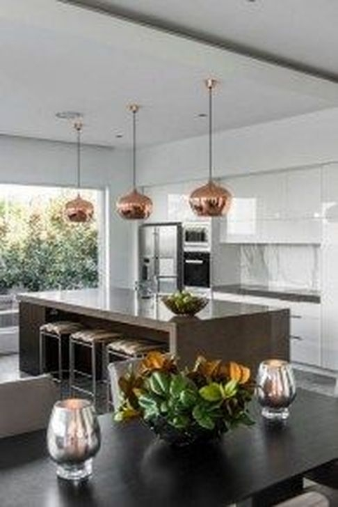 Hottest Copper Rose Gold Kitchen Themes Decorations Ideas 09