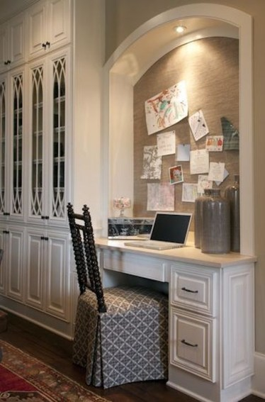 Outstanding Mini Office Design Ideas In The Living Room 16