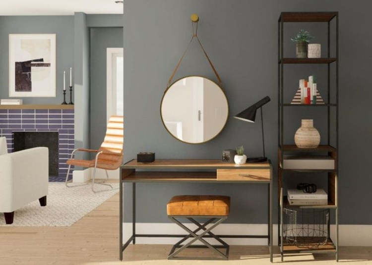 Outstanding Mini Office Design Ideas In The Living Room 42
