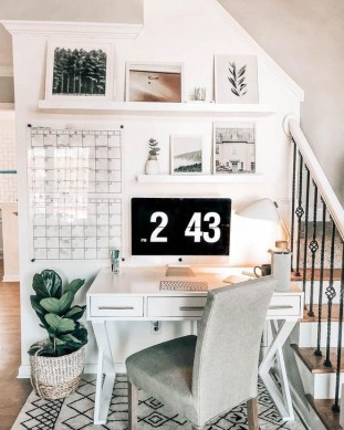 Outstanding Mini Office Design Ideas In The Living Room 46