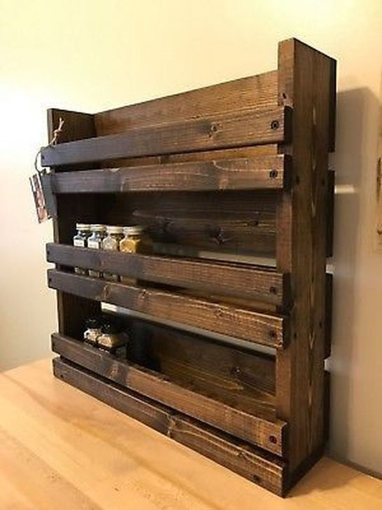 Relaxing Wooden Rack Ideas To Be Applied Into Any Home Styles 20