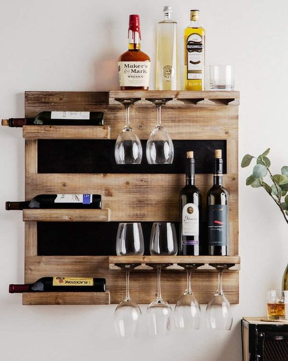 Relaxing Wooden Rack Ideas To Be Applied Into Any Home Styles 36