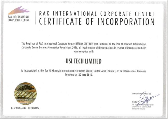 USI Tech Company Registration