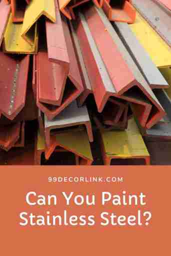 can you paint on stainless steel pinterest