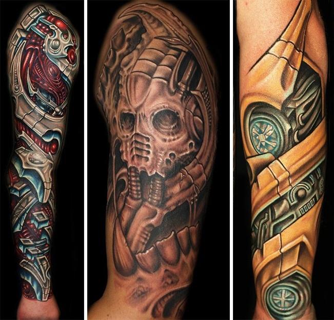 Стили татуировок - биомеханические