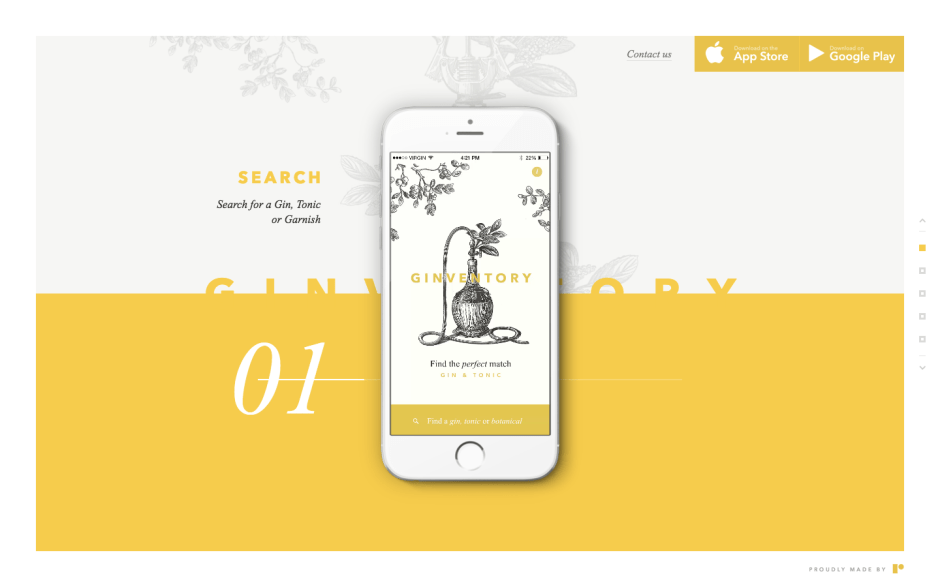 Find the perfect gin app design
