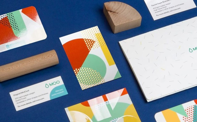 MOO's business card sample pack