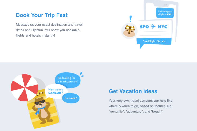 Hipmunk web design