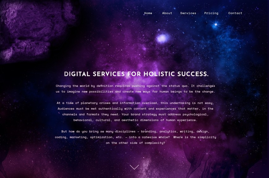 Example of 2020 web design trend of bold duotone