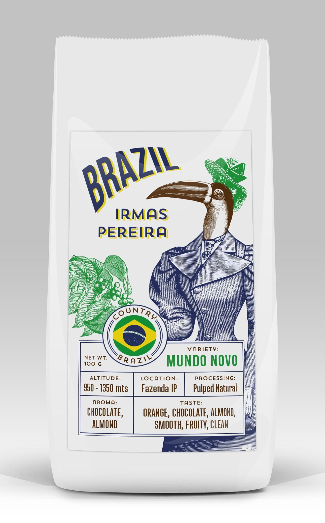 Xu hướng thiết kế bao bì 2020 ví dụ: Nhãn hiệu cà phê Brazil biến chất
