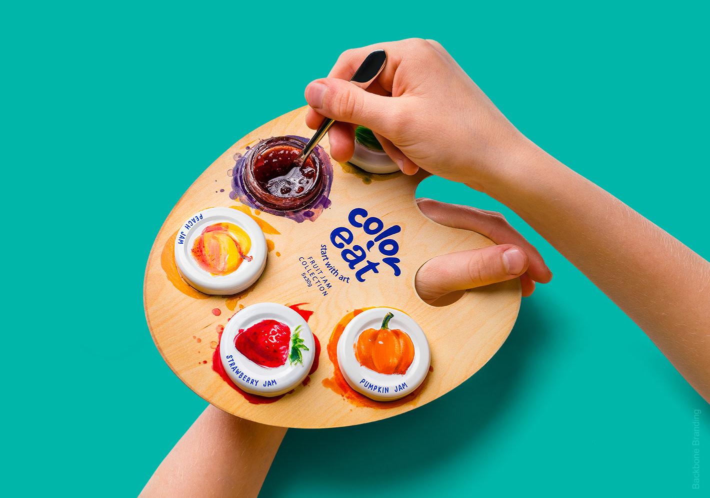 Xu hướng thiết kế bao bì 2020 ví dụ: Bộ sưu tập mứt trái cây đầy màu sắc