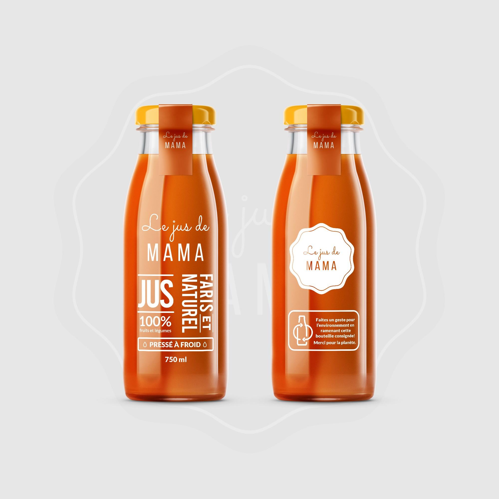 Xu hướng thiết kế bao bì 2020 ví dụ: thiết kế chai nước trái cây trong suốt