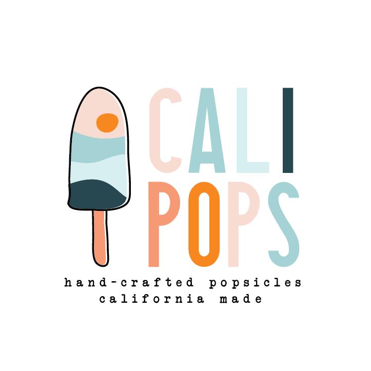 logo design trends example: Blue pink popsicle logo design