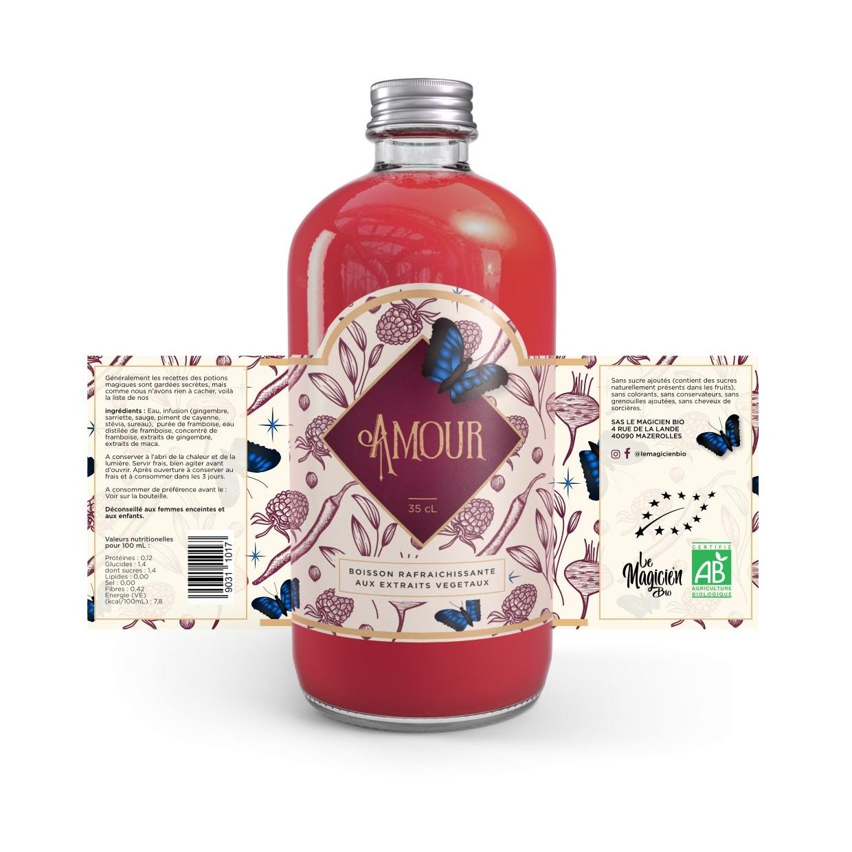 Illustrated floral label design