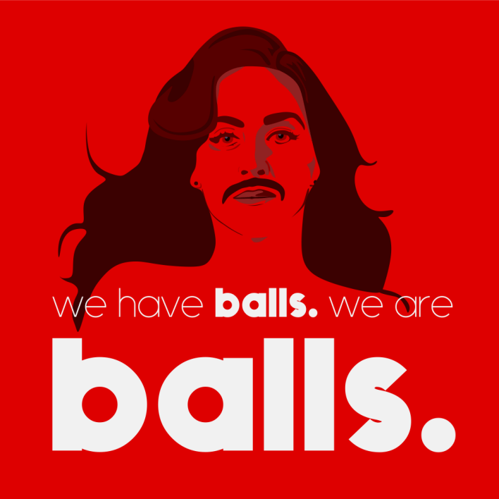 Logo design for LGBT advertising company Balls