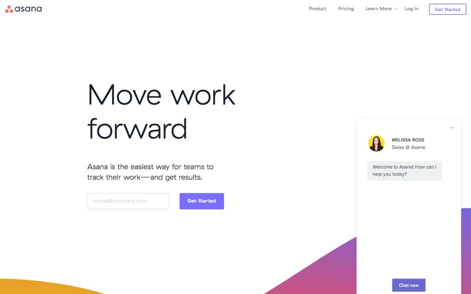 Asana webpage screenshot