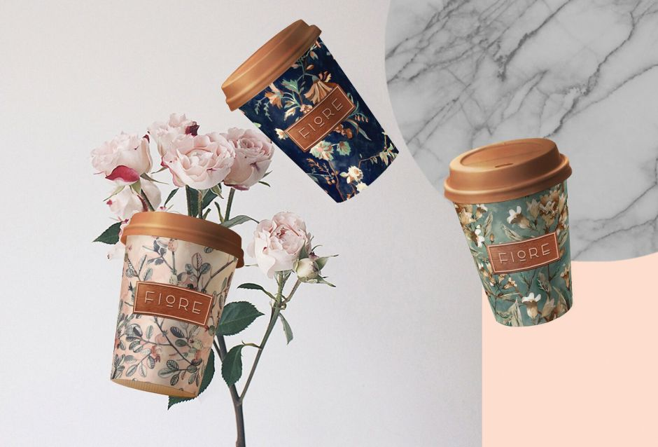 Fiore's floral Italian restaurant branding