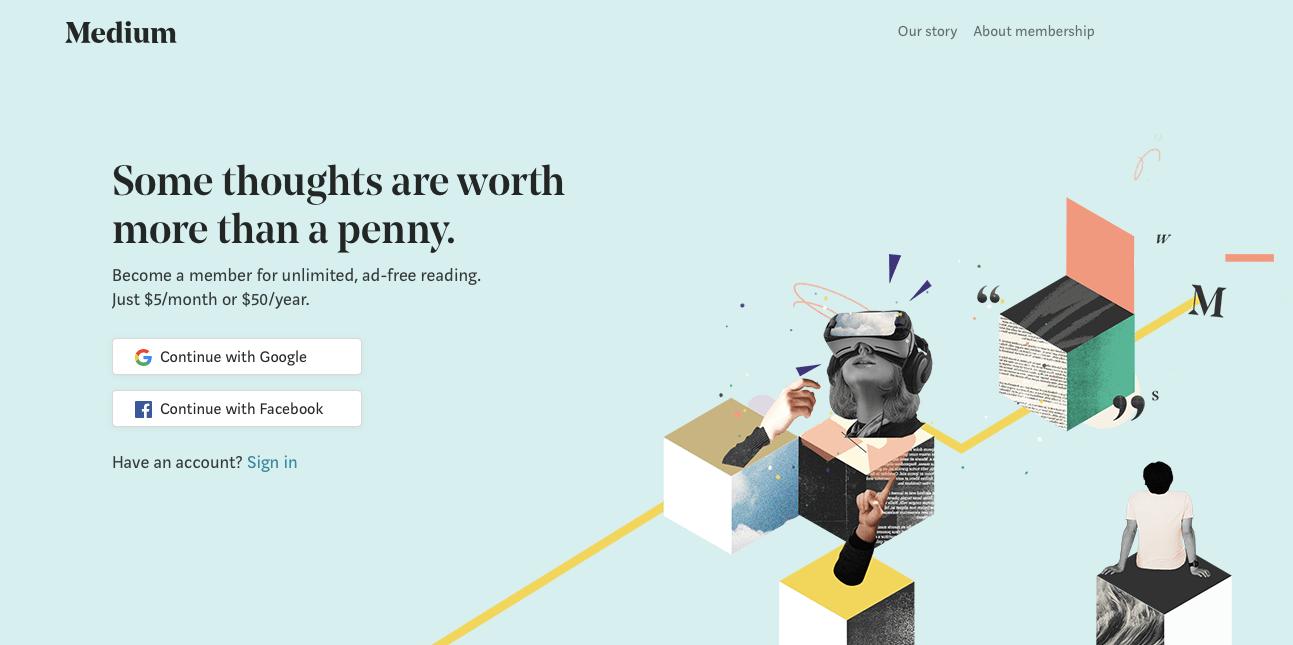 Medium website design