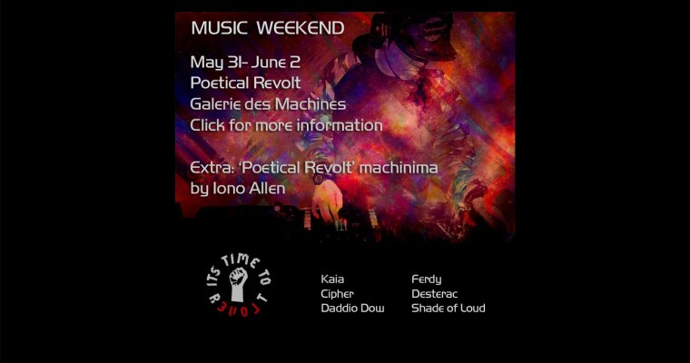 Music Weekend at Poetical Revolt!