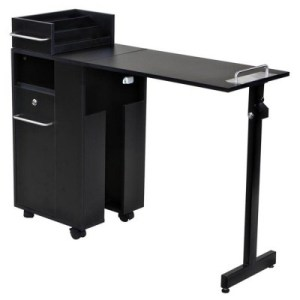 Icarus Black Manicure Nail Table Station