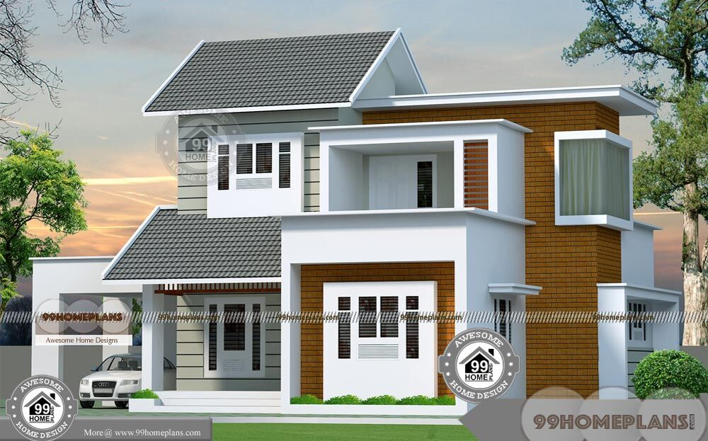 3 Bedroom 2 Story House Plans And Eye Catching Balcony