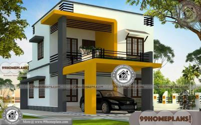 modern box budget low plans floor double bedroom sq homes ft plan story 99homeplans collections simple designs elevation ground three