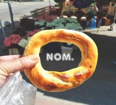 Homemade Bulgarian pretzel.