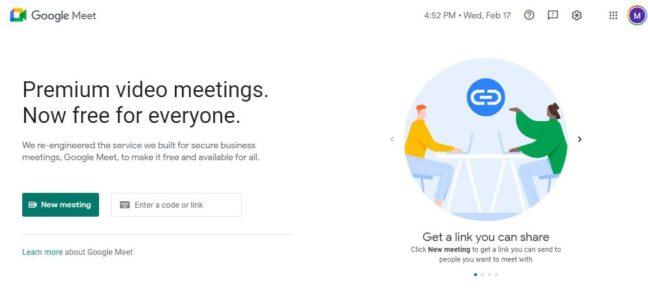 google meet screnn sharing