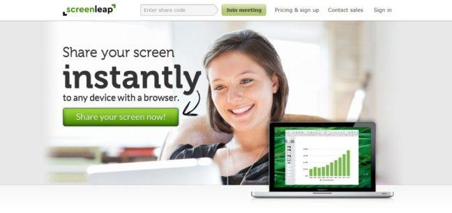 screenleap screen sharing software