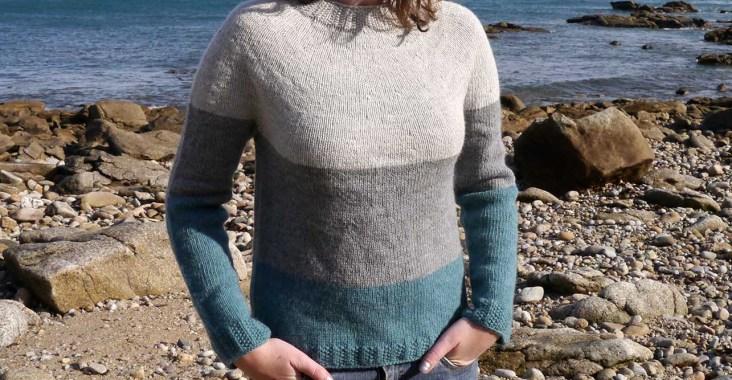 pull tricoté en Drops Lima