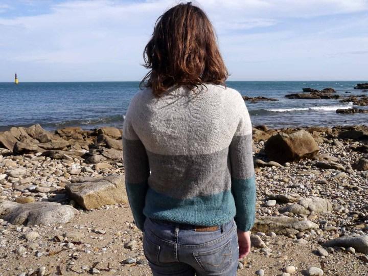 dos du pull en tricot