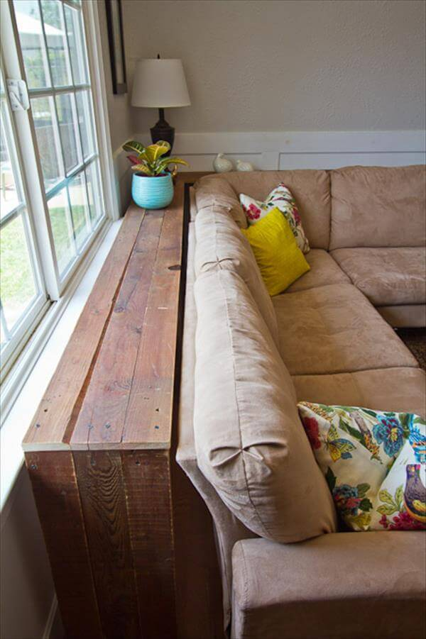Sofa Table Made From Pallets 99 Pallets