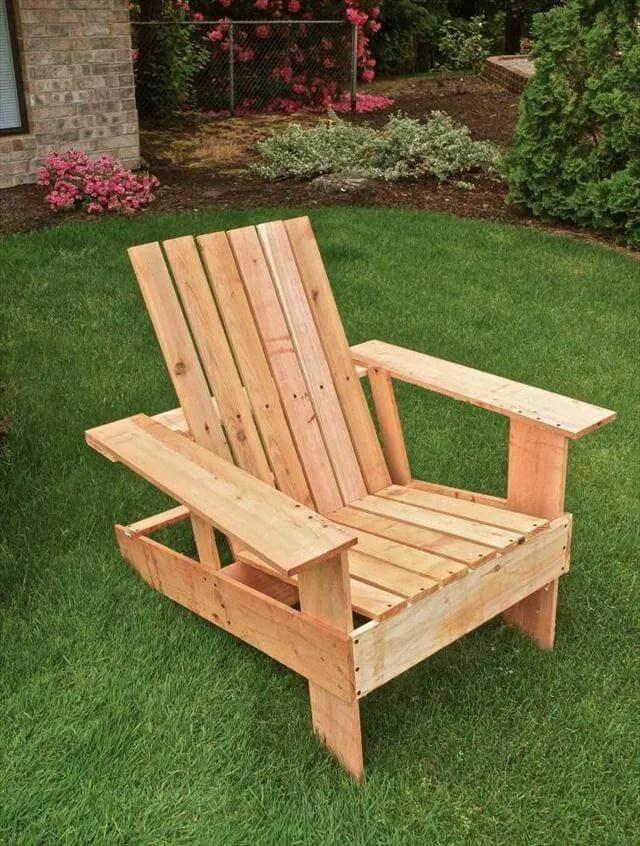 Diy Pallet Adirondack Chair Step By Step Tutorial 99