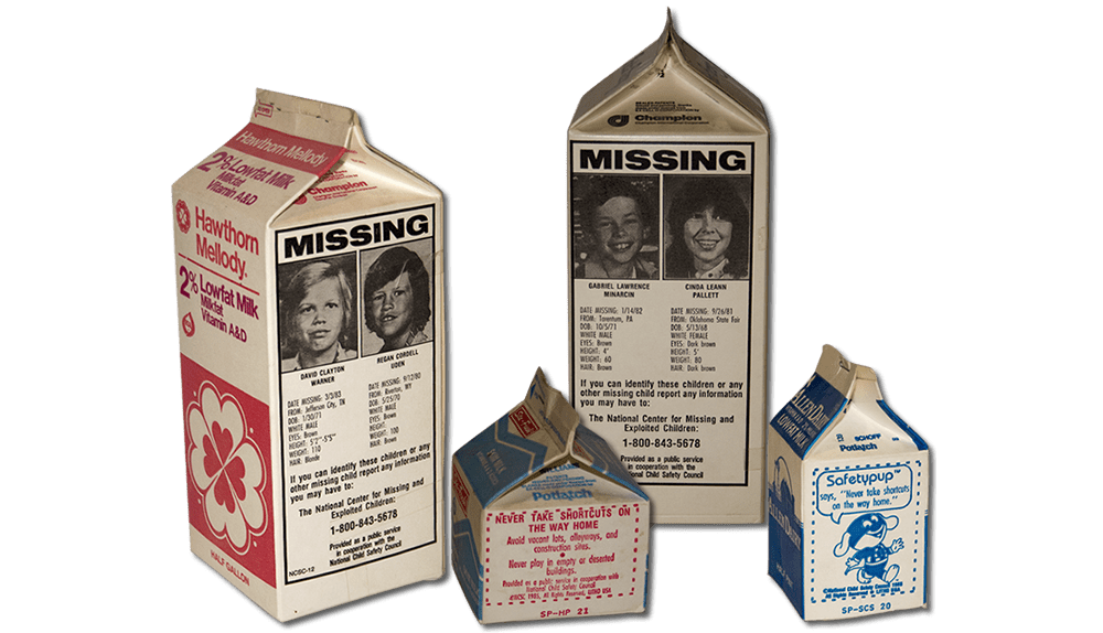 Image result for milk carton missing children