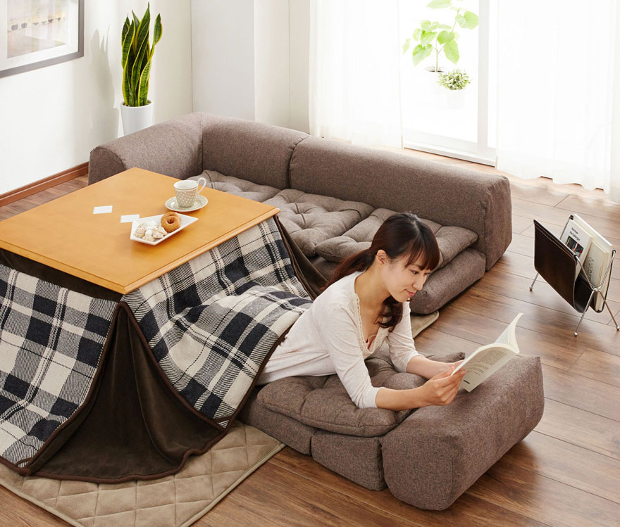 zaisu floor chair white plastic lawn chairs target kotatsu tables: cozy mobile hearths solve space heating in japanese homes - 99% invisible