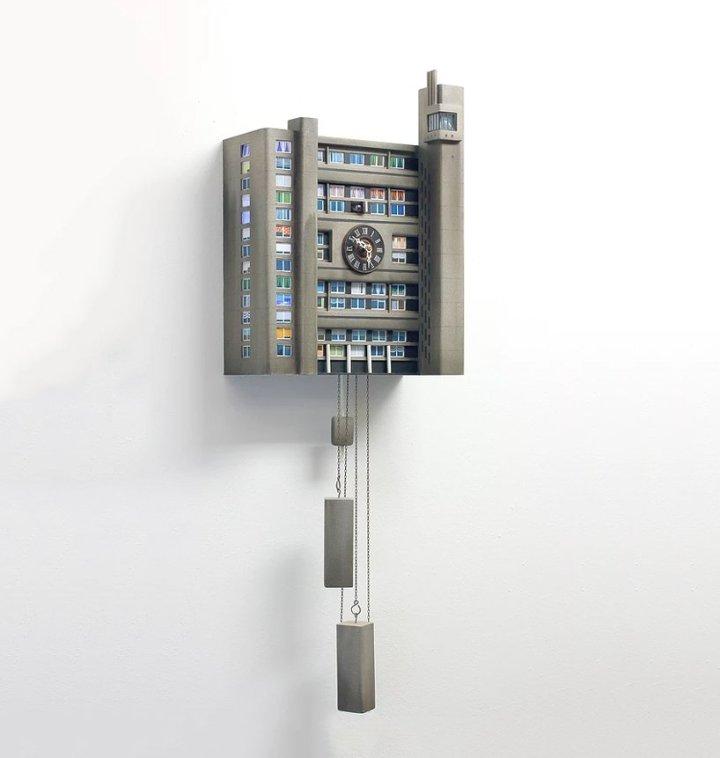 A kooky modernist cuckoo clock
