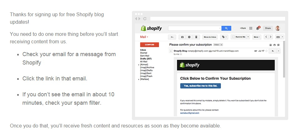 Email Sign-Up Confirmation Page Examples and Best
