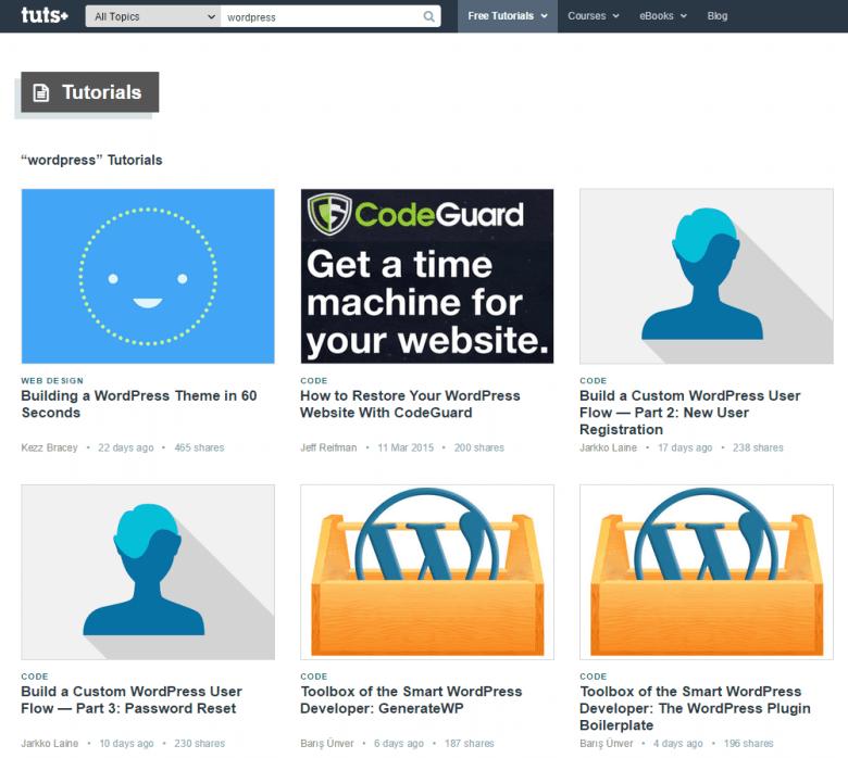 tuts+ - WordPress Tutorials
