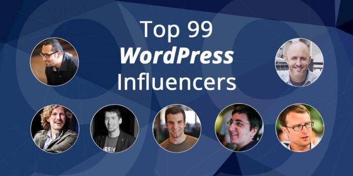 Top 99 WordPress Influencers of 2015