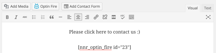 optin-fire-shortcode-text